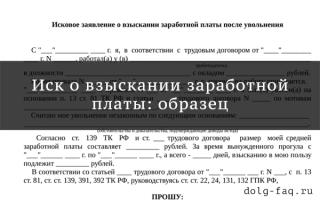 Исковое заявление о взыскании заработной платы: образец и правила оформления, необходимые документы