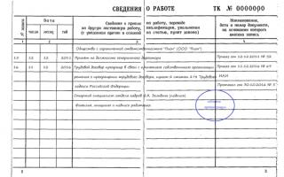 Запись об увольнении генерального директора в трудовую книжку: правила оформления и образец документа
