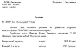 Справка о зарплате в свободной форме: образец бланка, структура документа, цели оформления