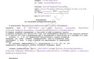 Ходатайство по статье 24.4 коап рф: образец заявления, специфика, сущность, структура и содержание