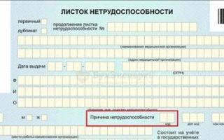Коды в больничном листе и их расшифровка: основные, дополнительные, о нарушении режима и другие