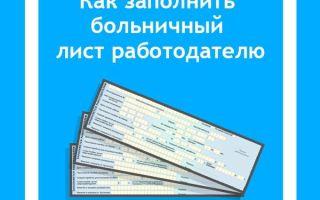 Бланк больничного листа: правила заполнения медицинским учреждением, образец документа