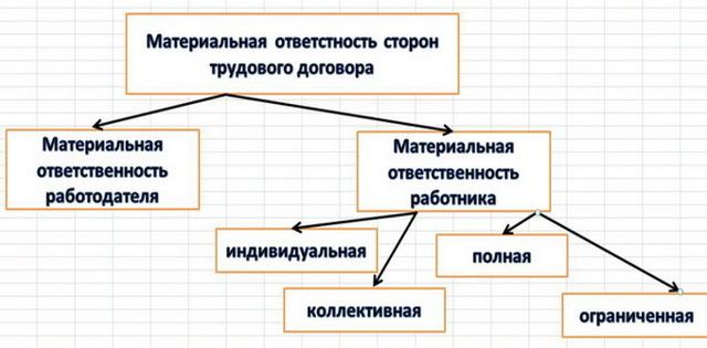 Материальная ответственность работника по ТК РФ: виды, обстоятельства исключающие ее наступление, порядок привлечения, образец приказа